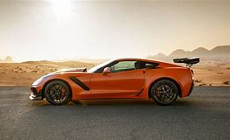 Jeff's orange corvette
