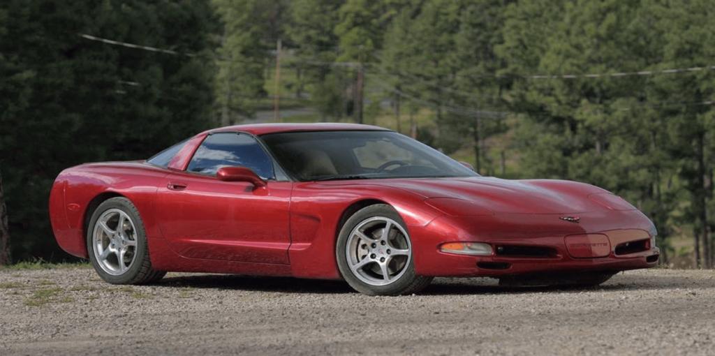 Mike K's red corvette